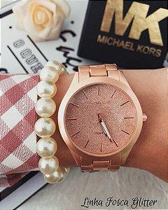 Relógio MK Linha Fosca Glitter