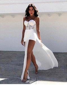 Vestido Longo White Fashion
