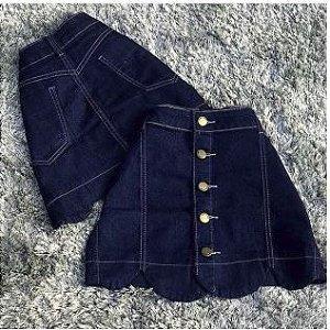 Saia Curta Cloud - Jeans com Elastano