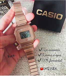 Relógio Casio Aço Inoxidável - Unissex