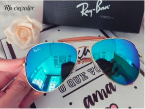 Óculos Ray ban Caçador - Lente Espelhada