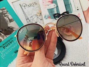 Óculos Rayban Dobrável Round fa056e4c98970