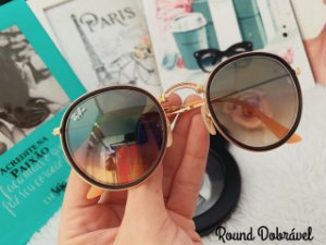 Óculos Rayban Dobrável Round