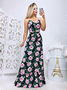 Vestido Longo Flower 🌸🌸🌸🌺