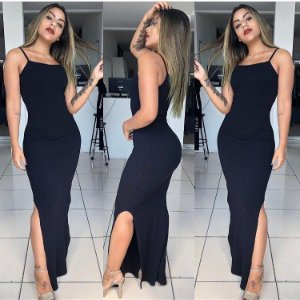 Vestido Longo Pretinho Básico