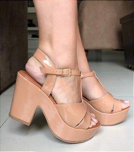 Sandália Coleção Glamour Beje