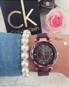 Relógios CK - pulseira de malha italiana magnética