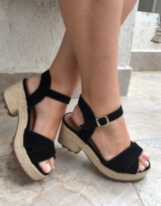 Sandália Coleção Fashion Preta