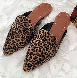Sandália Coleção Fashion Oncinha