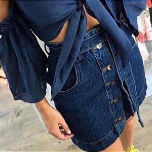 Saia Jeans Botões