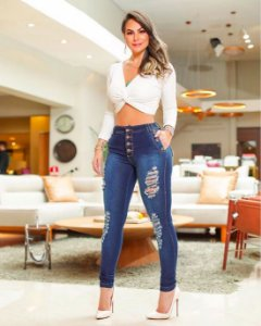 Calça Jeans Pop Botões