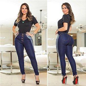 Calça Jeans Faixa Lateral