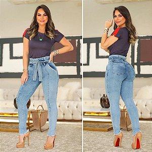 Calça Jeans Cinto Cintura