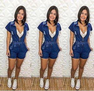 Macaquinho Jeans Zipper
