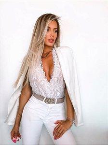 Body Linda Flor Renda