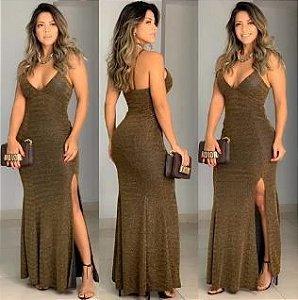 Dress Longo Lurex