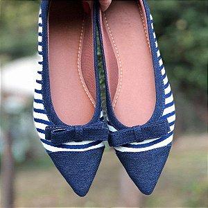 Sapatilha marinheiro lacinho azul