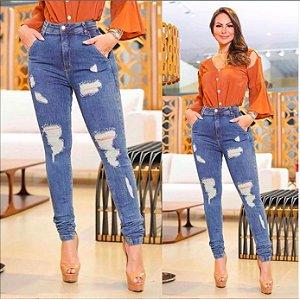 Calça Jeans Destroyed Nina