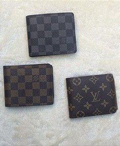 Carteira Masculina Louis Vuitton -  Couro Sintético