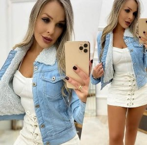 Jaqueta Jeans Peluciada