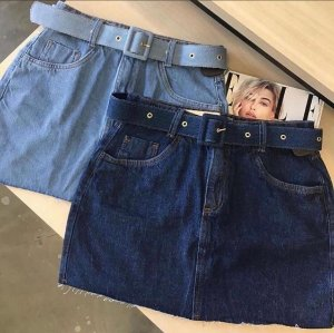Saia Jeans c/ Cinto