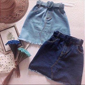Saia Jeans c/ Cinto Coração