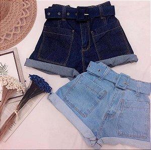 Shorts Jeans com Bolso Frontal