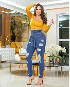 Calça Jeans com Laço