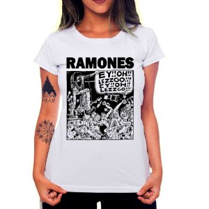 Camiseta Feminina Ramones - Let's Go!