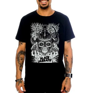 Camiseta Black Sabbath - Skulls