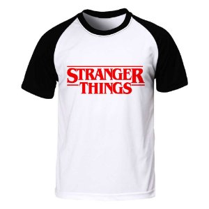 Camiseta Raglan Stranger Things - Logo