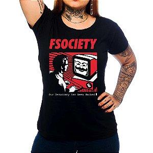 Camiseta Feminina Mr. Robot - Computer