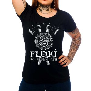 Camiseta Feminina Vikings - Floki