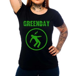 Camiseta Feminina Green Day - Warning