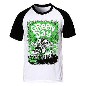Camiseta Raglan Green Day - Dog