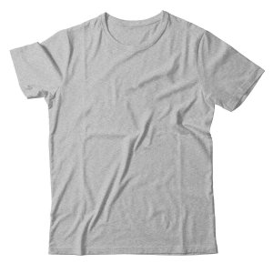 Camiseta Lisa Masculina Malha Penteada Confort - Cinza