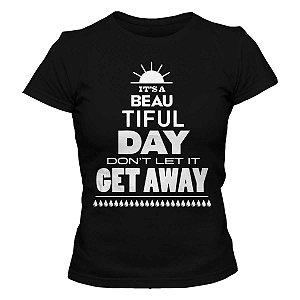 Camiseta Feminina U2 - Beautiful Day