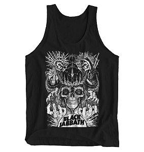 Regata Masculina Black Sabbath - Skulls
