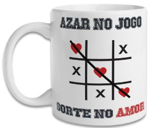 Caneca Azar no Jogo Sorte no Amor