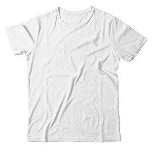Camiseta Lisa Masculina Malha Penteada Confort - Branca