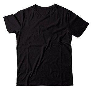 Kit com 5 Camisetas Lisas Masculinas Malha Penteada Confort - Preta