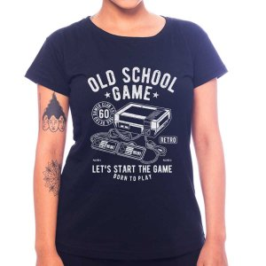 Camiseta Feminina Old School Game