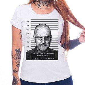 Camiseta Feminina Breaking Bad - Heisenberg Mugshot