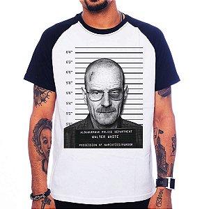 Camiseta Raglan Breaking Bad - Heisenberg Mugshot