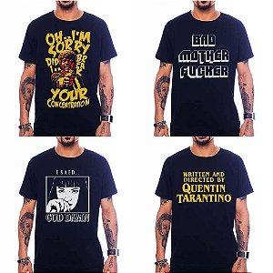 Kit 4 Camisetas Filmes Quentin Tarantino
