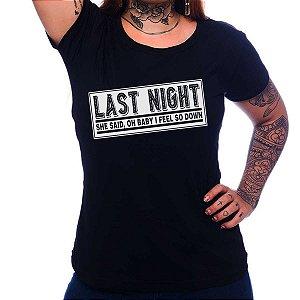 Camiseta Feminina The Strokes - Last Night