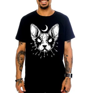 Camiseta Black Metal Cat