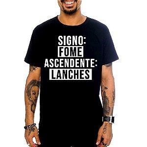 Camiseta Signo Fome, Ascendente Lanches