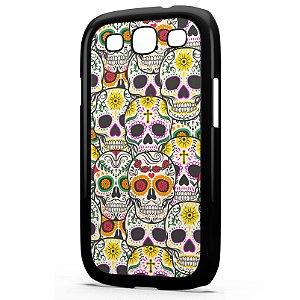 Capa para Celular Galaxy S3 Caveiras Mexicanas
