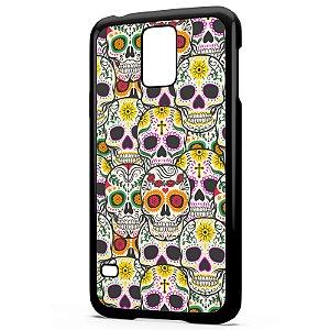 Capa para Celular Galaxy S5 Caveiras Mexicanas